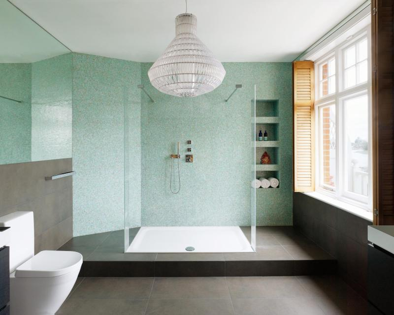 Bad Interior Design Images Bathrooms London double walk in shower and view to the Thames